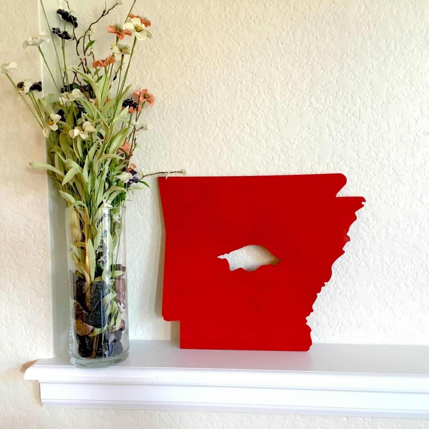 Arkansas With Razorback Custom Metal Sign Metal Wall Art Throughout Most Recent Razorback Wall Art (View 13 of 25)