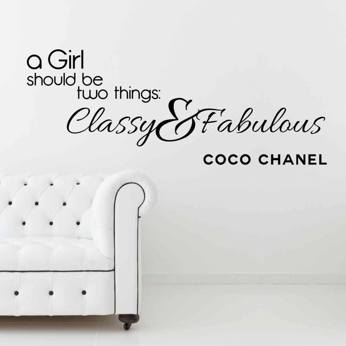 Art And Get Fresh Off The Press Vinyl Wall Decal Quote Inspiration For Most Recent Coco Chanel Wall Decals (View 8 of 25)
