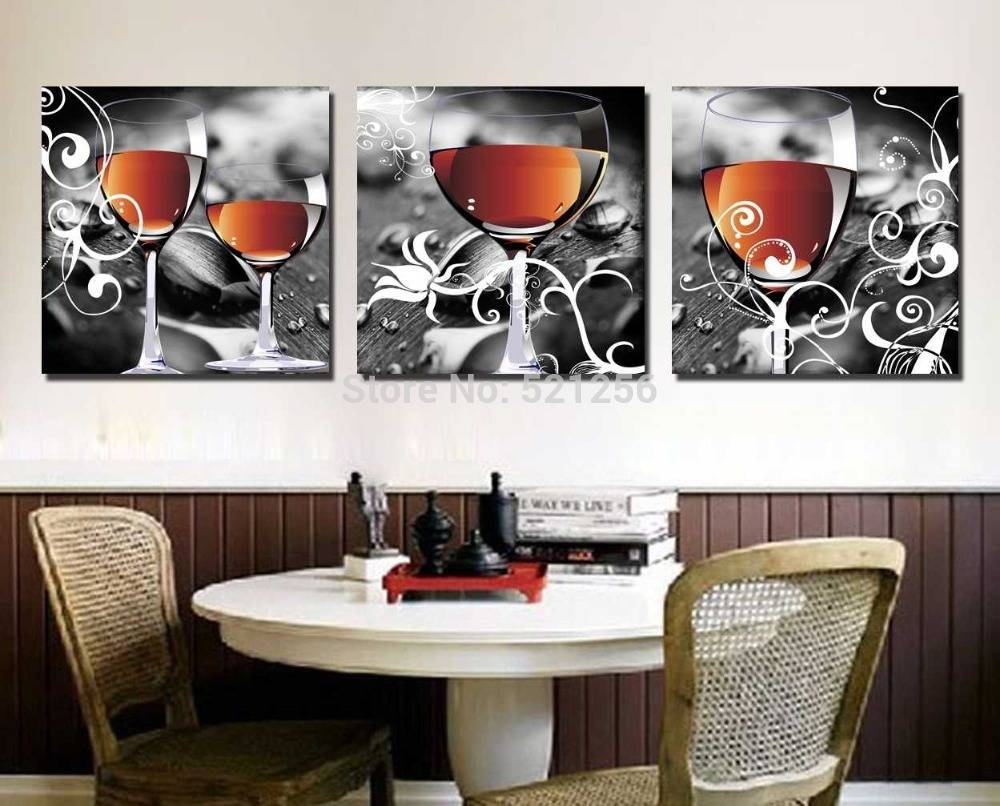 20 best cheap contemporary wall art for Wine decor for kitchen cheap