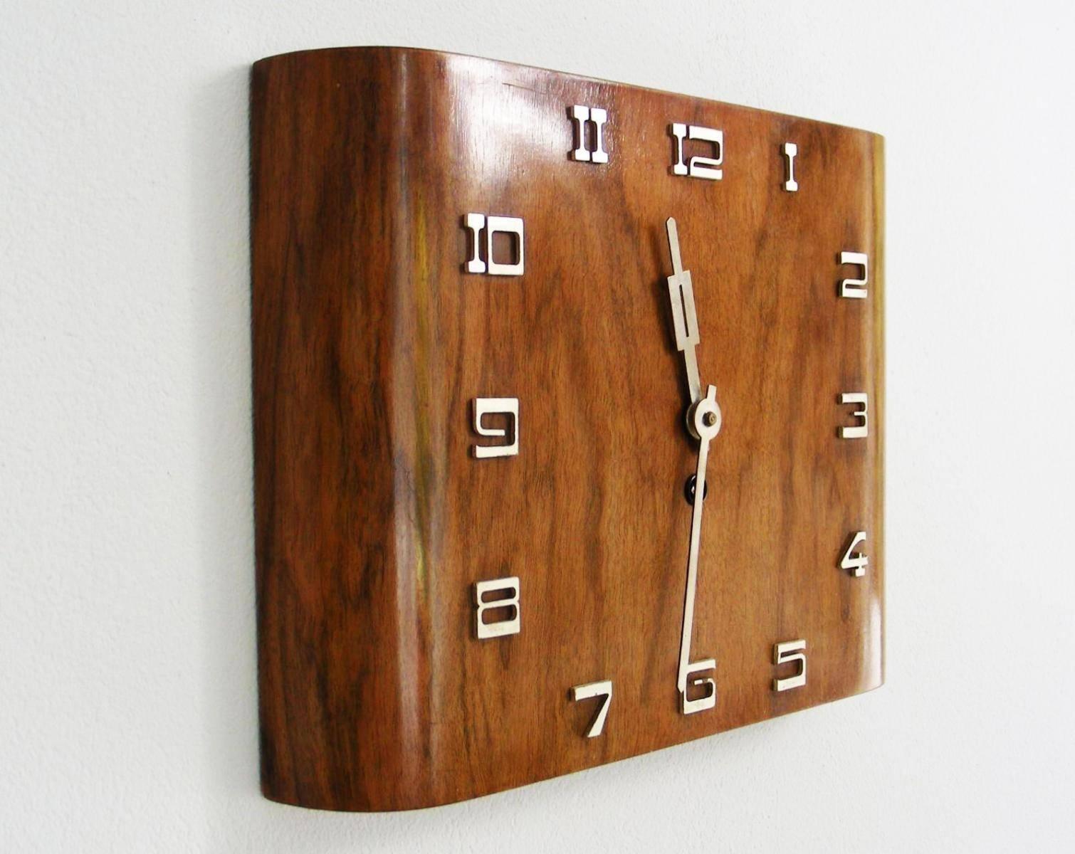 Art Deco Wall Clock | Roselawnlutheran Inside Latest Art Deco Wall Clocks (Gallery 5 of 25)