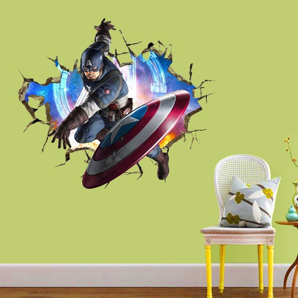 Art Deco Wall Covering Picture – More Detailed Picture About 3D Regarding Newest Marvel 3D Wall Art (View 14 of 20)