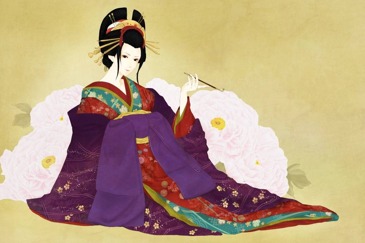 Art Girl Japanese Geisha With Kimono Pdm164 Wall Art Canvas Fabric With Regard To 2018 Geisha Canvas Wall Art (View 3 of 20)