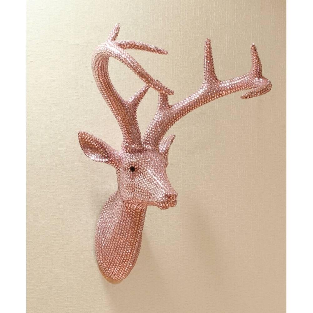 Arthouse Star Studded Stag Head Diamante Deer Mounted Wall Art 008213 Inside Most Up To Date Stags Head Wall Art (View 2 of 25)