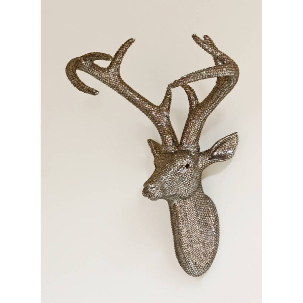 Arthouse Star Studded Stag Head Diamante Deer Mounted Wall Art 008217 Throughout Best And Newest Stag Head Wall Art (View 2 of 20)