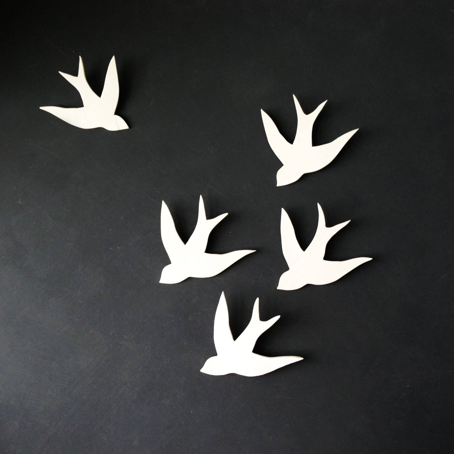 Articles With 3D Flying Birds Wall Decor Tag: Birds Wall Decor Pertaining To Most Recent White Birds 3D Wall Art (View 5 of 20)
