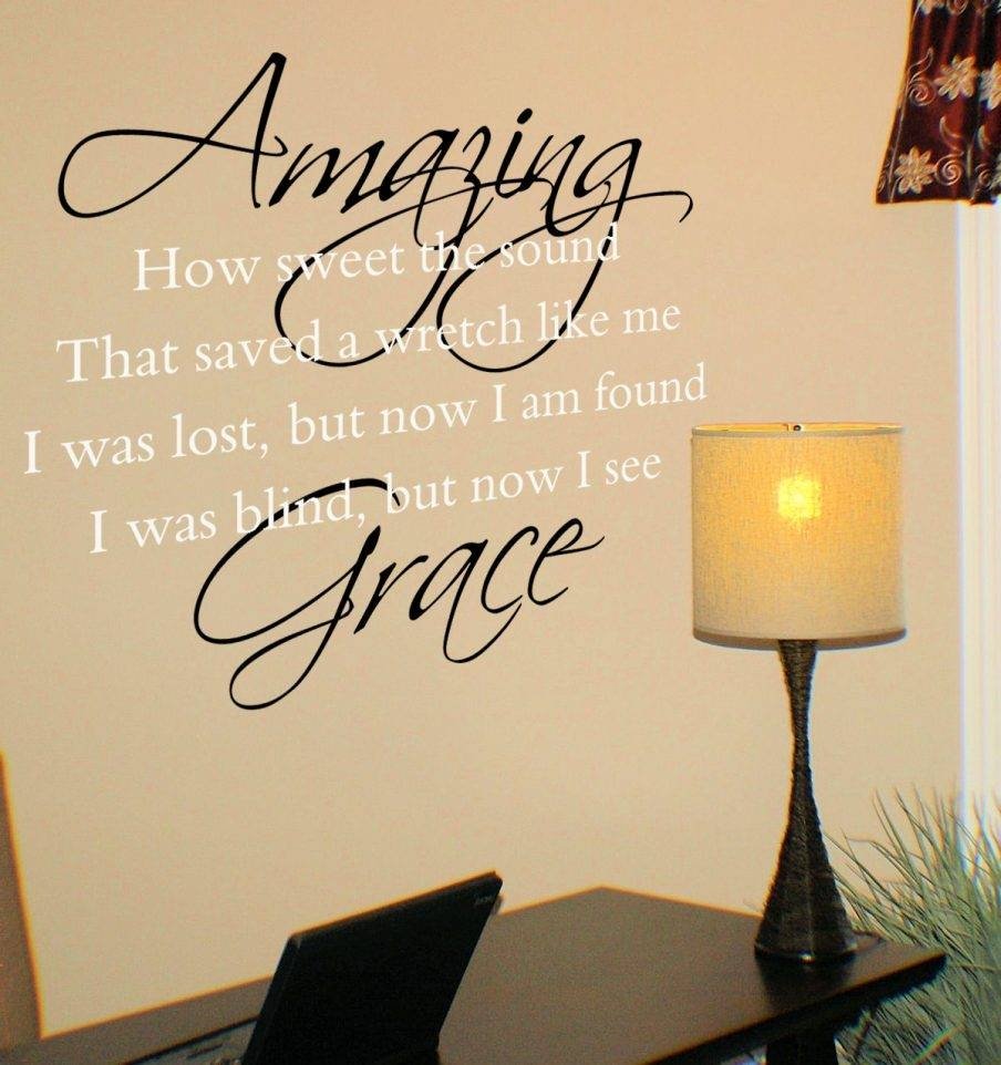 Articles With Amazing Grace Wood Wall Art Tag: Amazing Grace Wall Regarding Best And Newest Grace Wall Art (View 15 of 25)
