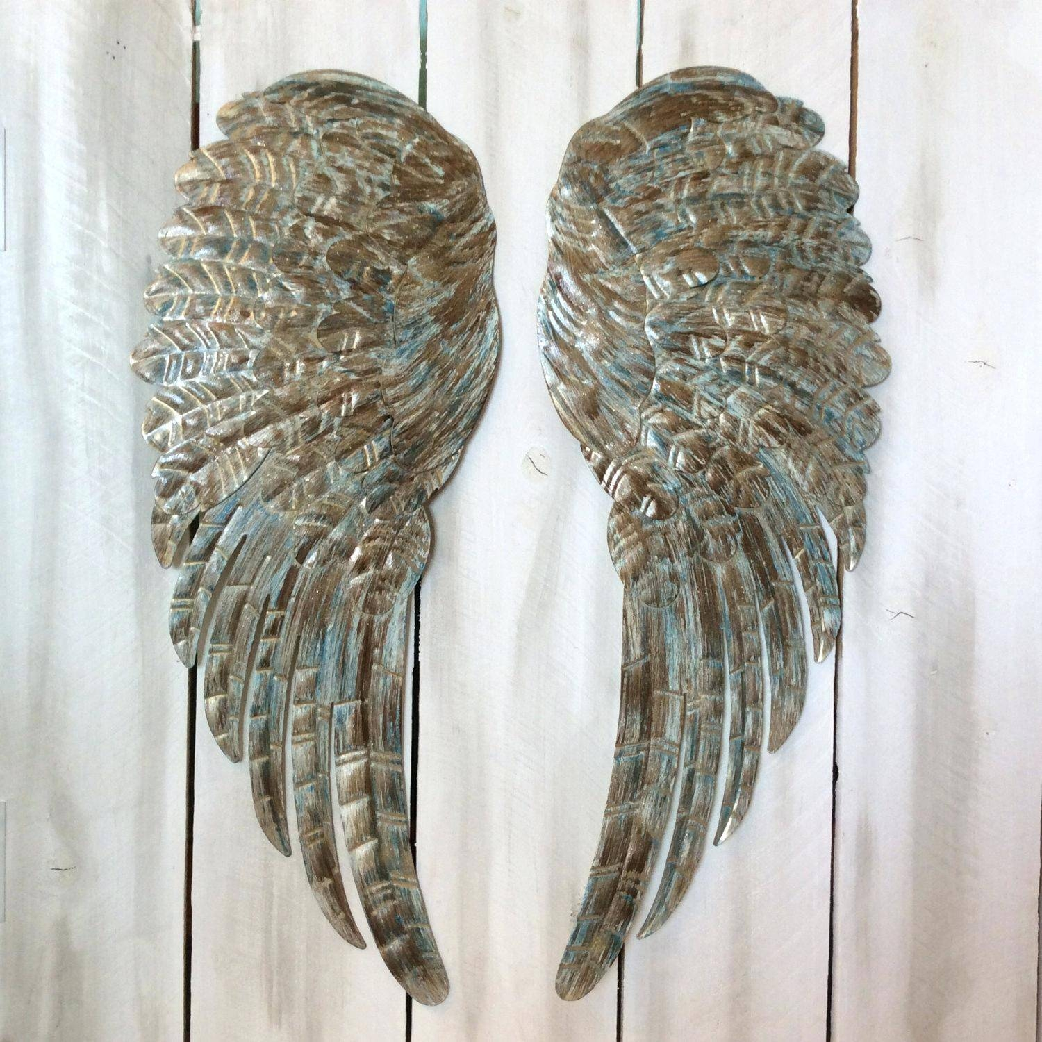 Best 20 of angel wings sculpture plaque wall art for Angel wall decoration