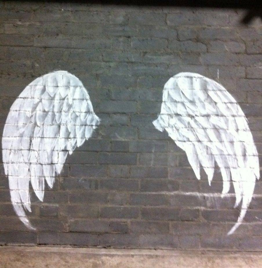 best 20 of angel wings sculpture plaque wall art. Black Bedroom Furniture Sets. Home Design Ideas