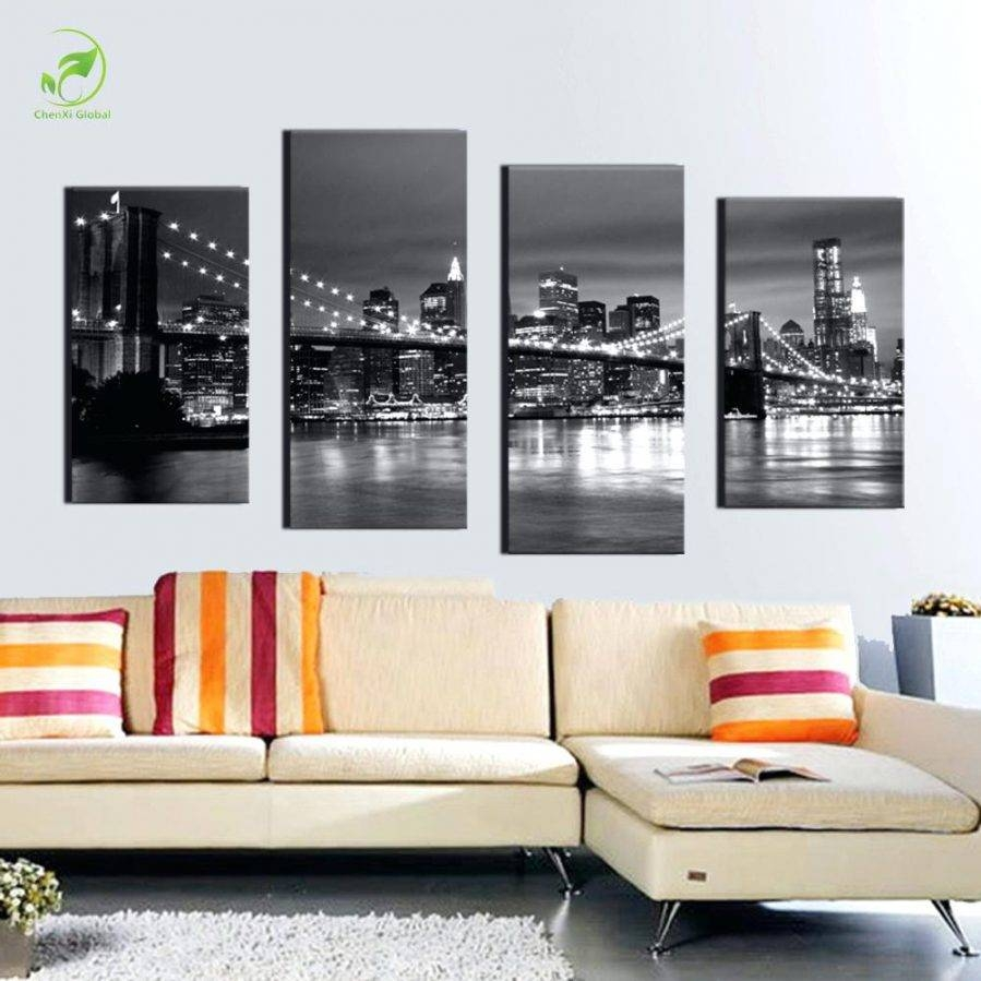 Articles With Brooklyn Bridge At Night Canvas Wall Art Tag In Most Popular Brooklyn Bridge Wall Decals (View 2 of 25)