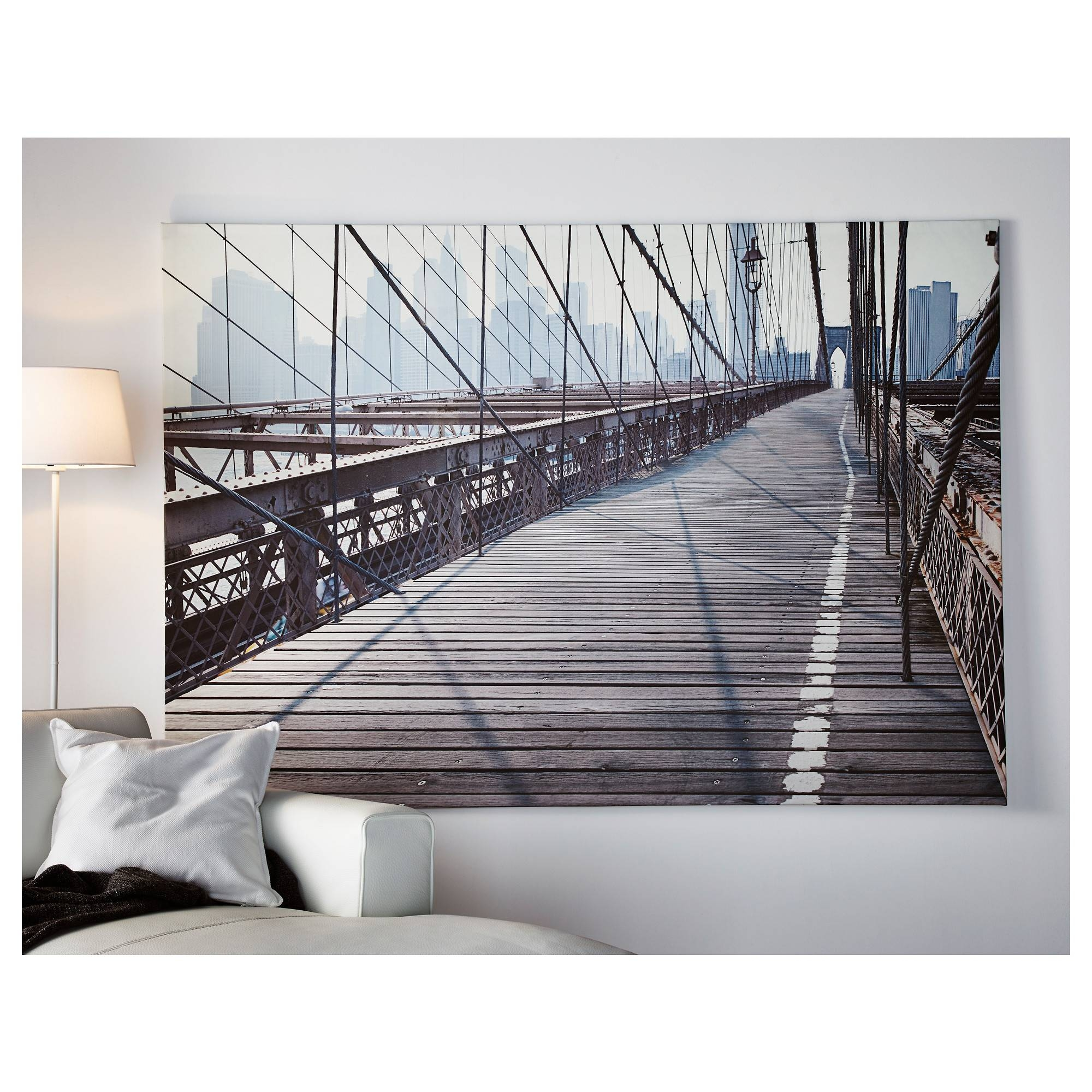 Articles With Brooklyn Bridge Glass Wall Art Tag: Brooklyn Bridge For Recent Brooklyn Bridge Wall Decals (View 3 of 25)