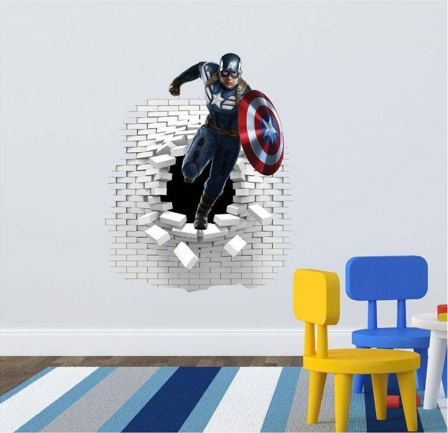 Articles With Captain America 3D Wall Art Night Light Tag: Captain Throughout Best And Newest Captain America 3D Wall Art (View 9 of 20)