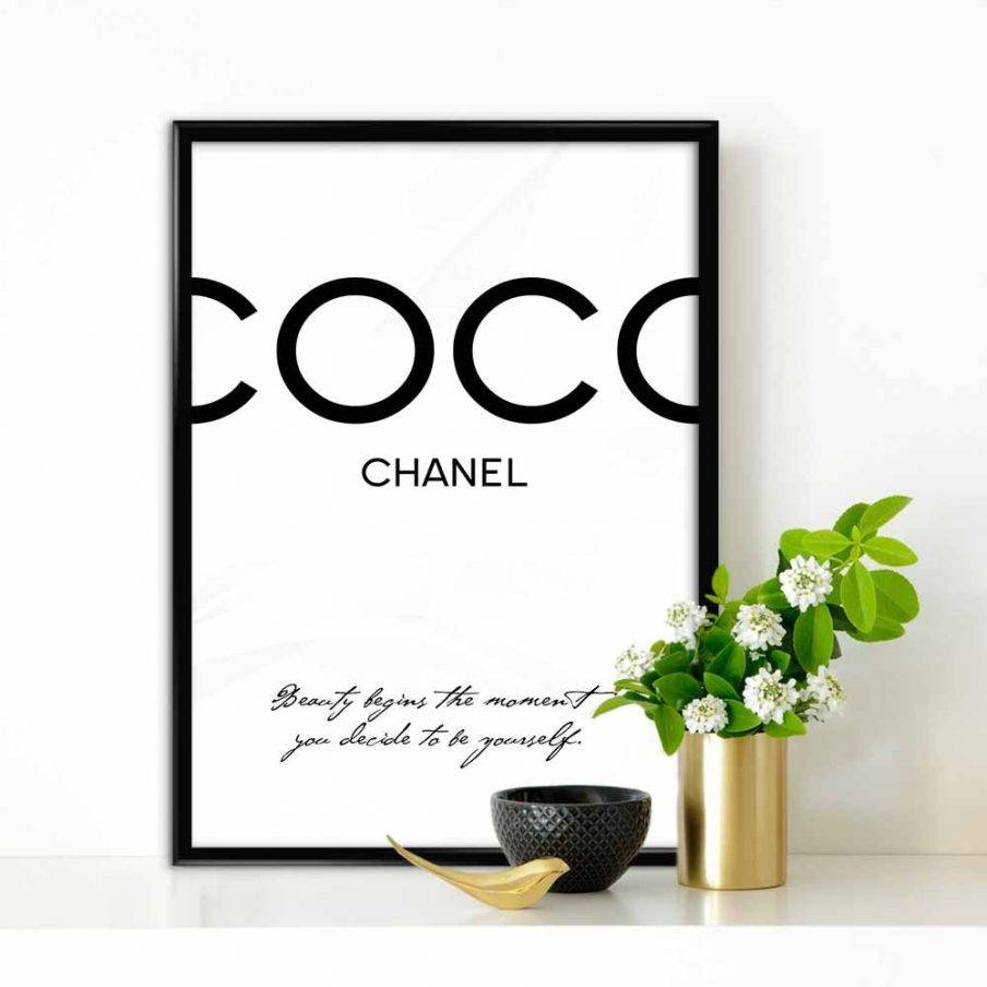 Articles With Coco Chanel Framed Wall Art Tag: Coco Chanel Wall Within Most Recent Coco Chanel Wall Stickers (View 13 of 30)