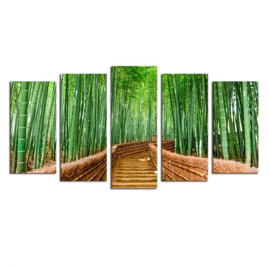 Articles With Contemporary Wall Art Decor Tag: Modern Wall Art In Newest Bamboo Metal Wall Art (View 3 of 25)