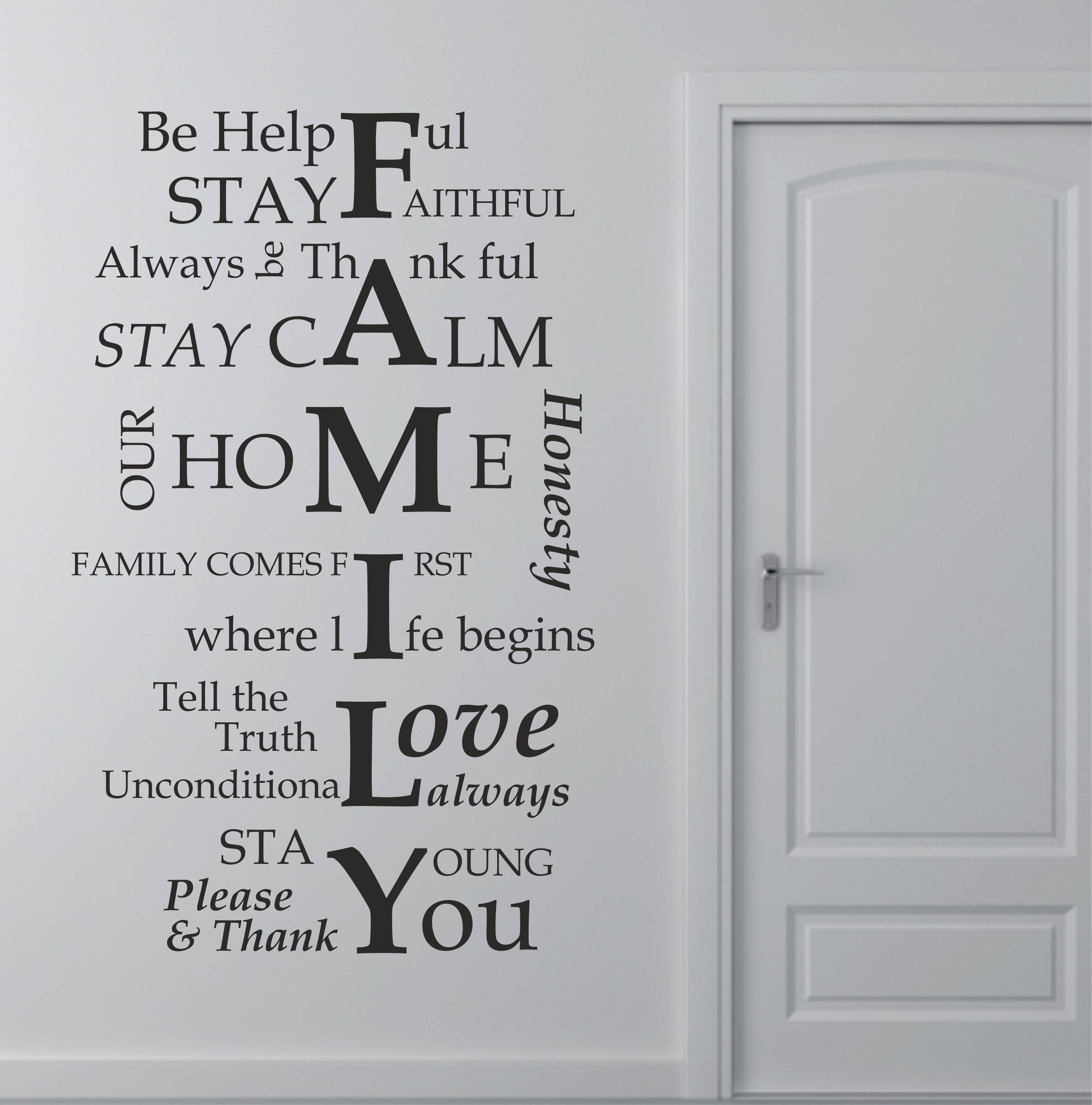 Articles With Family Rules Wall Art Wood Tag: Family Wall Art Pertaining To Newest Family Photo Wall Art (View 1 of 25)