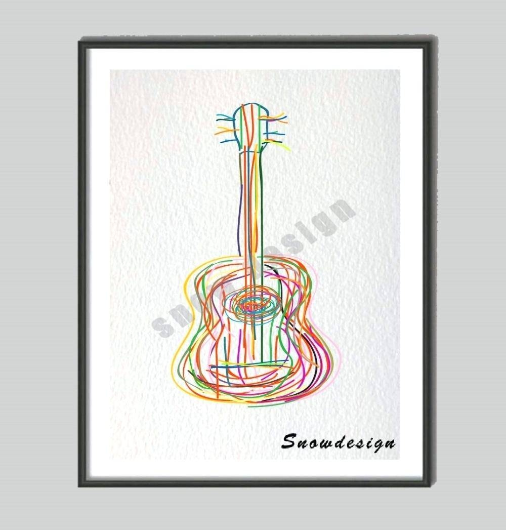Articles With Guitar Wall Art Canvas Tag: Guitar Wall Art (View 6 of 30)