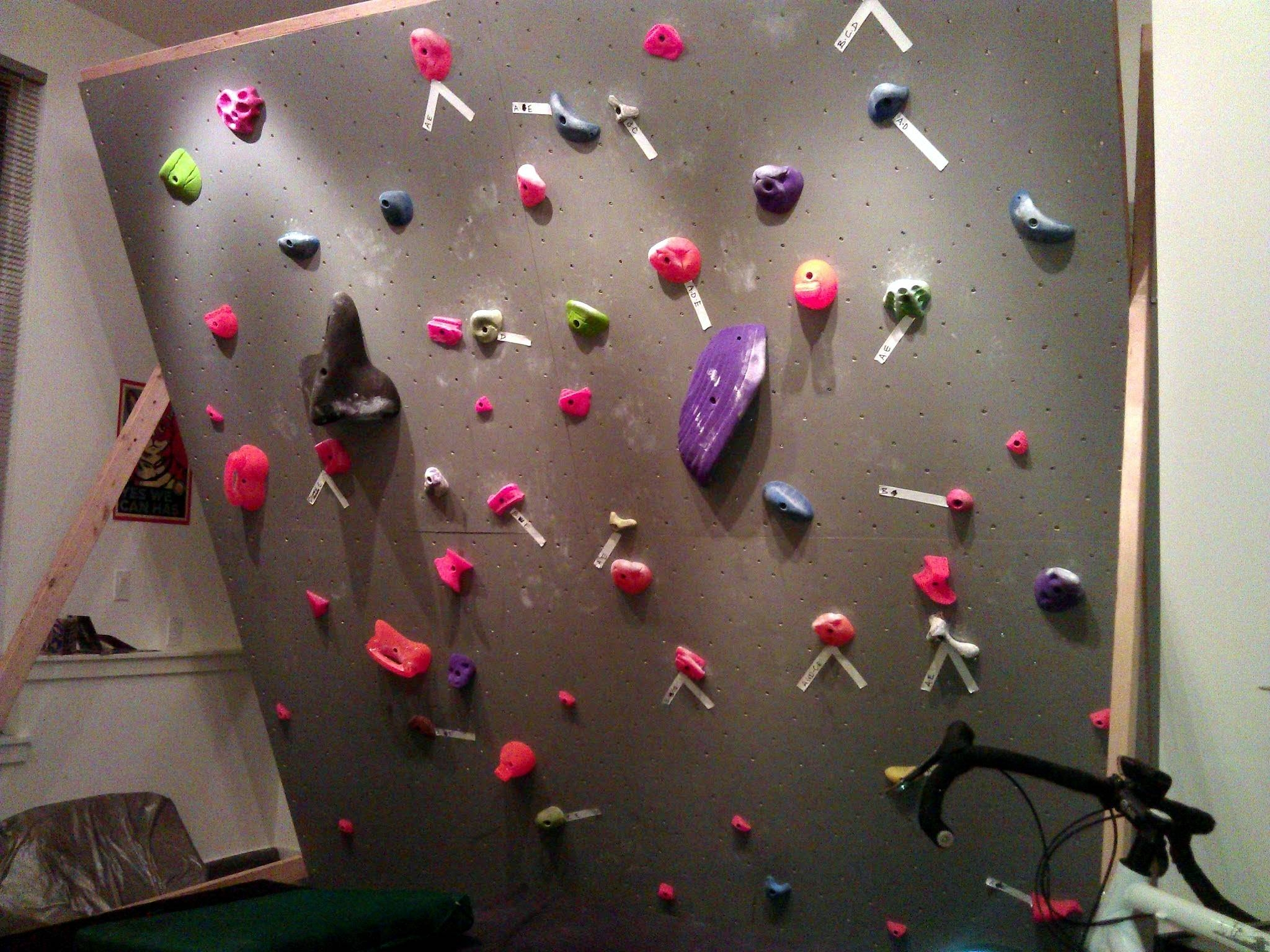 Articles With Home Climbing Wall Build Tag: Home Climbing Wall Photo (View  1 Of