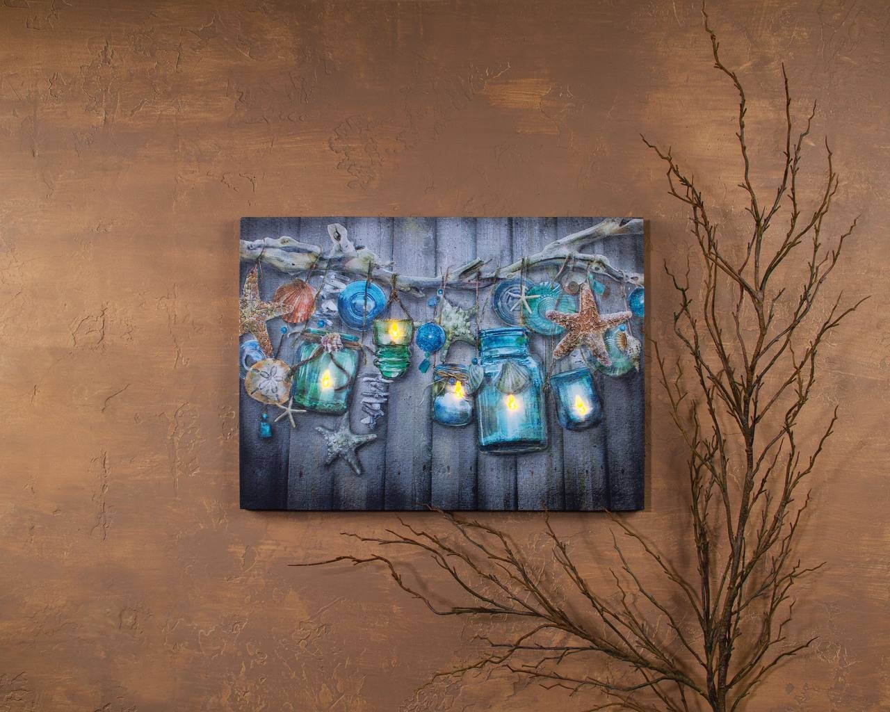 Articles With Illuminated Glass Wall Art Tag: Illuminated Wall Art For Most Up To Date Seaside Metal Wall Art (View 15 of 15)