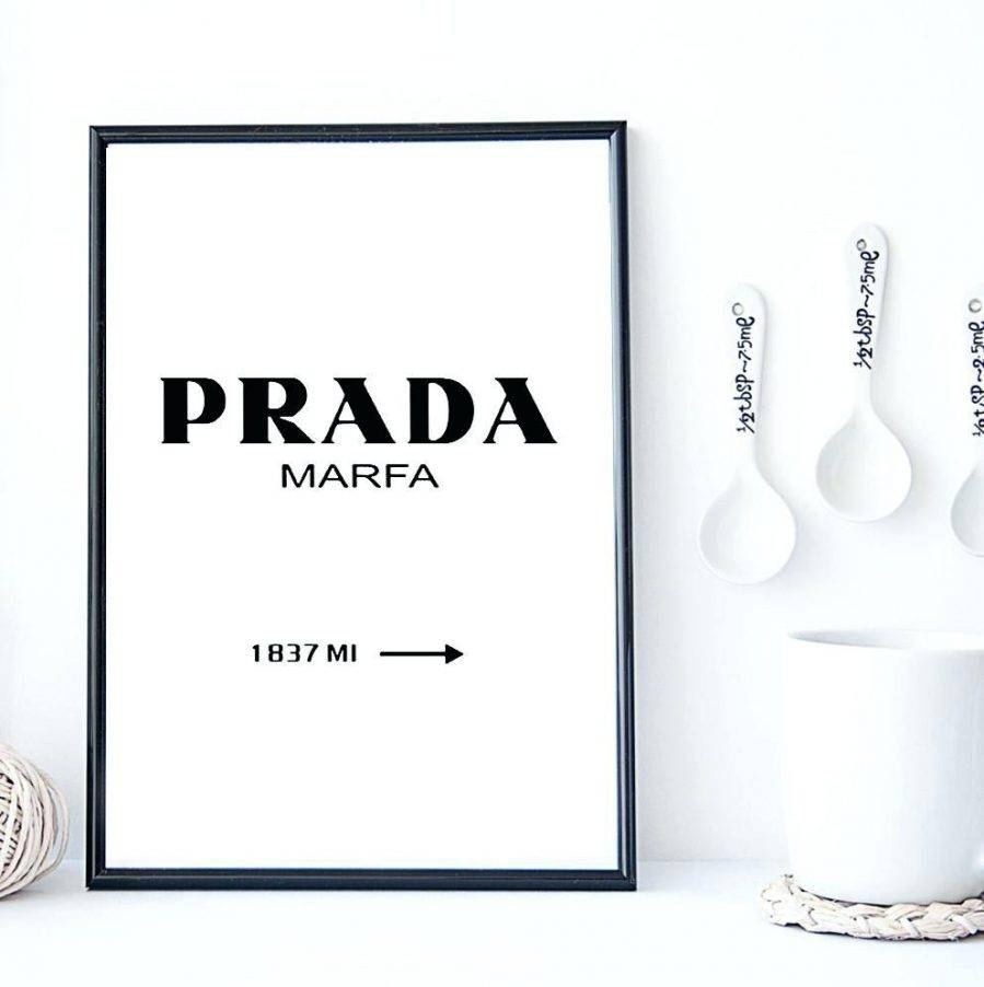 Articles With Large Prada Marfa Poster Tag: Prada Wall Art (View 3 of 25)