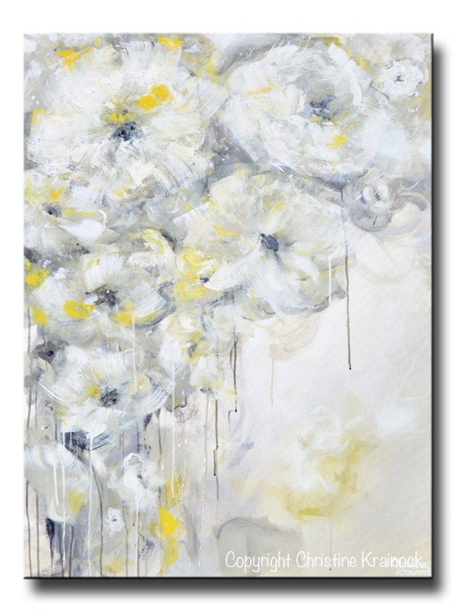 Articles With Large White Flower Wall Art Tag: White Flower Wall For Most Popular Large White Wall Art (View 3 of 20)