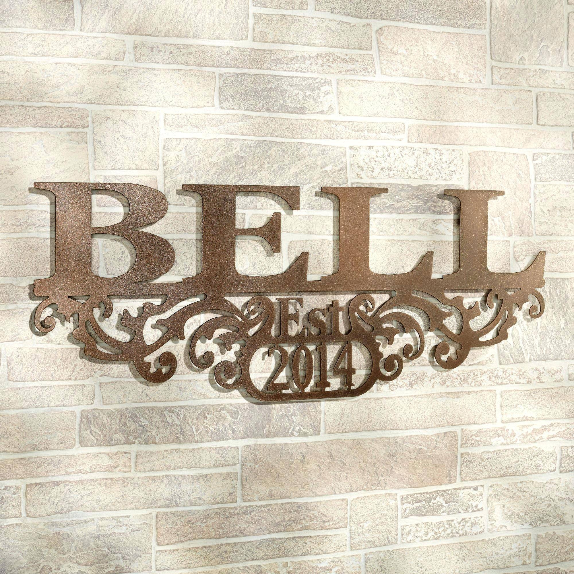 Articles With Last Name Alphabet Wall Art Tag: Last Name Wall Art Within Most Popular Last Name Wall Art (View 4 of 25)