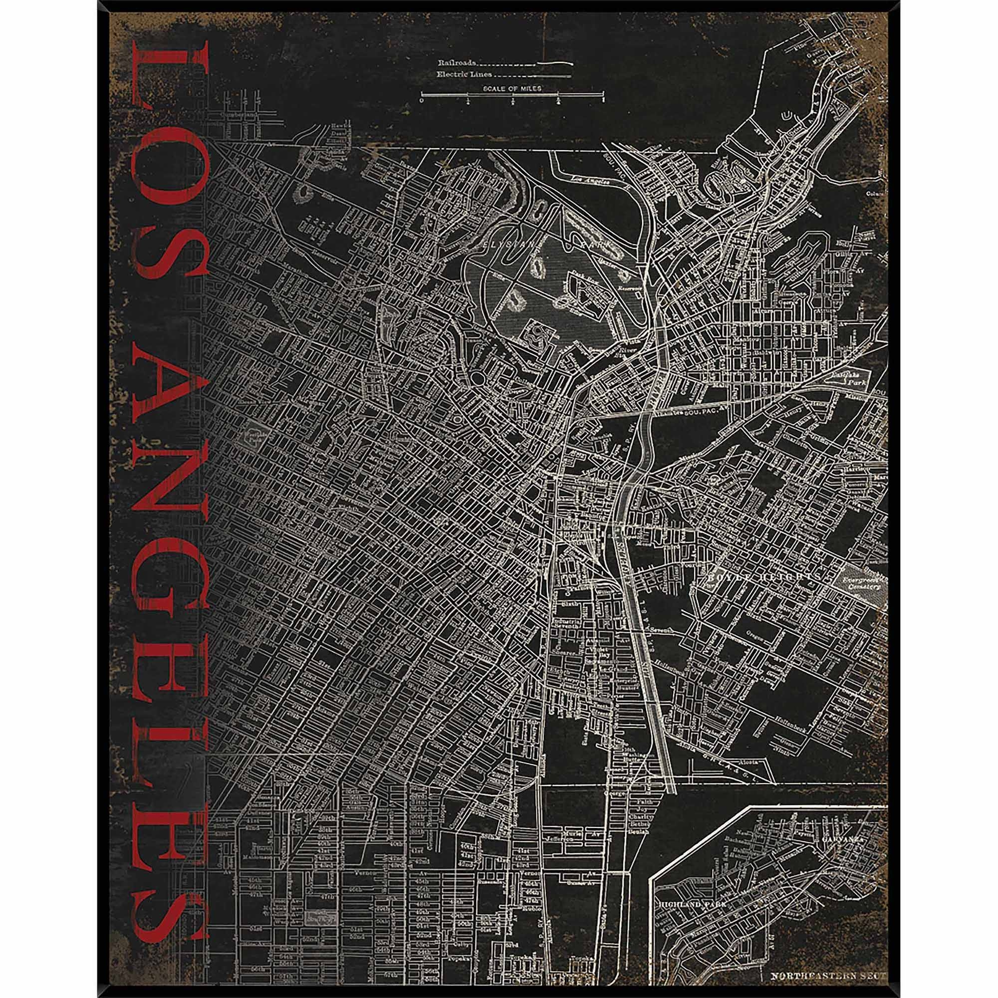 Articles With Los Angeles Map Wall Art Tag: Los Angeles Wall Art Inside 2017 Los Angeles Wall Art (View 13 of 20)