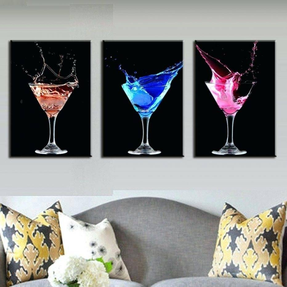 Articles With Martini Glass Wall Decor Tag: Stupendous Martini With Regard To Latest Martini Glass Wall Art (View 3 of 30)