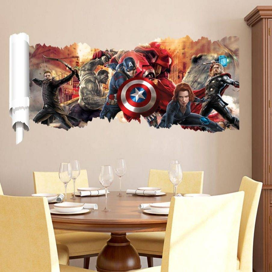 Articles With Marvel 3d Wall Art Night Lights Tag: Marvel Wall Art Regarding Most Up To Date 3d Wall Art Walmart (View 7 of 20)