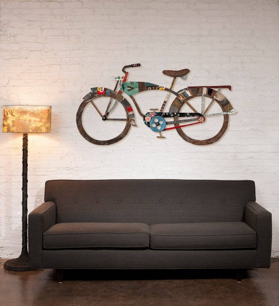 Articles With Metal Bicycle Wall Art Tag: Metal Bicycle Wall Art With Regard To 2018 Metal Bicycle Art (View 2 of 20)