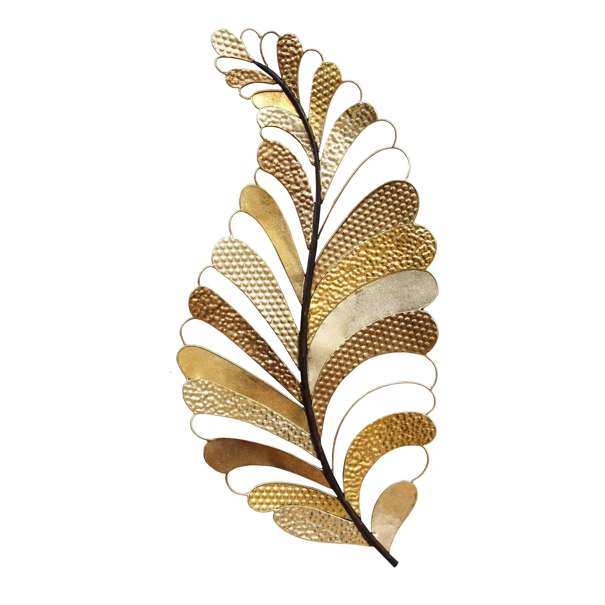 Articles With Metal Leaf Wall Decor Online Tag: Leaf Wall Decor Pertaining To Most Up To Date Palm Leaf Wall Decor (View 5 of 25)