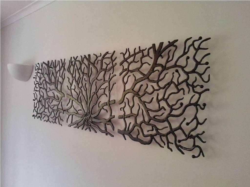 Articles With Metal Sculpture Wall Art Trees Tag: Metal Wall Intended For Most Recently Released Metal Tree Wall Art Sculpture (View 2 of 20)
