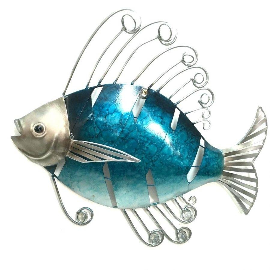 Articles With Metal Wall Art Fish Shoal Tag: Metal Wall Art Fish Pertaining To 2017 Shoal Of Fish Metal Wall Art (View 14 of 30)