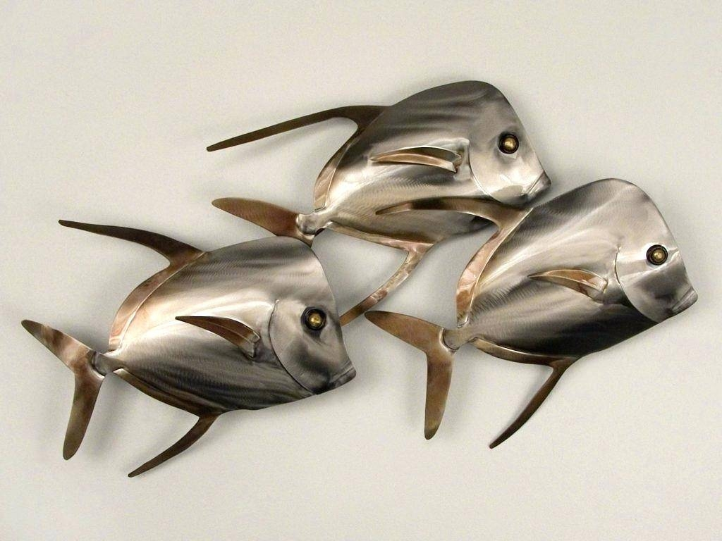 Articles With Metal Wall Art Fish Shoal Tag: Metal Wall Art Fish Regarding Latest Shoal Of Fish Metal Wall Art (View 4 of 30)