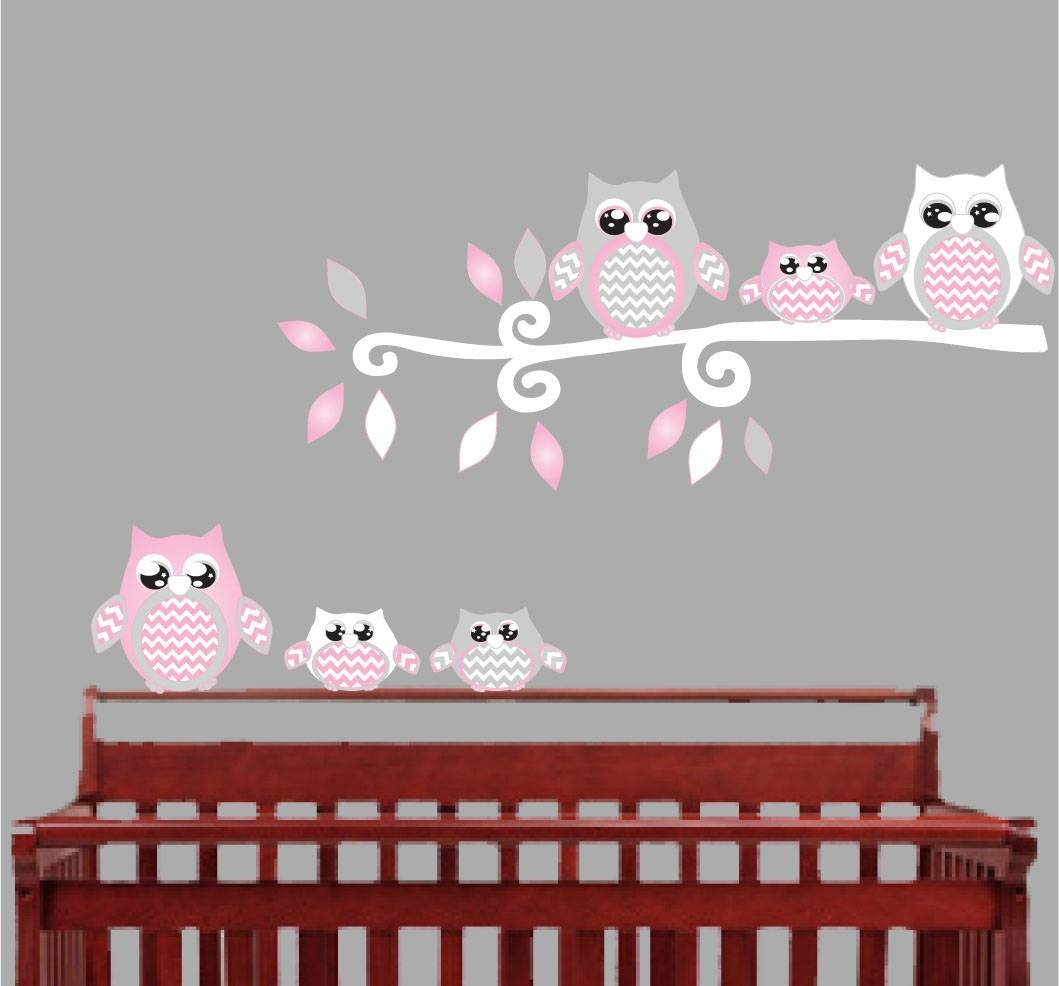Articles With Nursery Wall Art Stickers Ebay Tag: Wall Decoration Pertaining To Current Owl Wall Art Stickers (View 8 of 15)