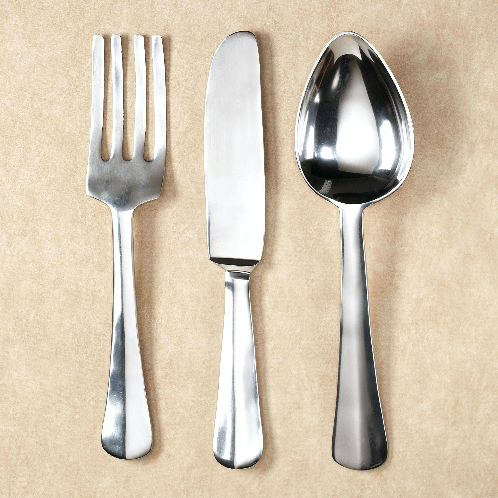 Articles With Oversized Wooden Spoon And Fork Wall Decor Tag Pertaining To Most Popular Big Spoon And Fork Wall Decor (View 2 of 30)