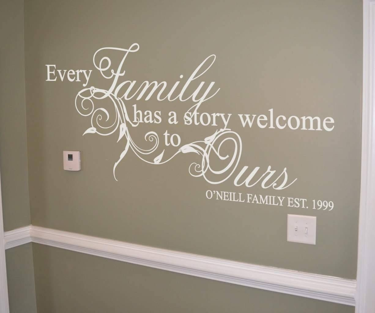 Articles With Personalised Family Name Wall Art Tag: Personalized With Regard To Most Popular Personalized Family Wall Art (View 2 of 20)