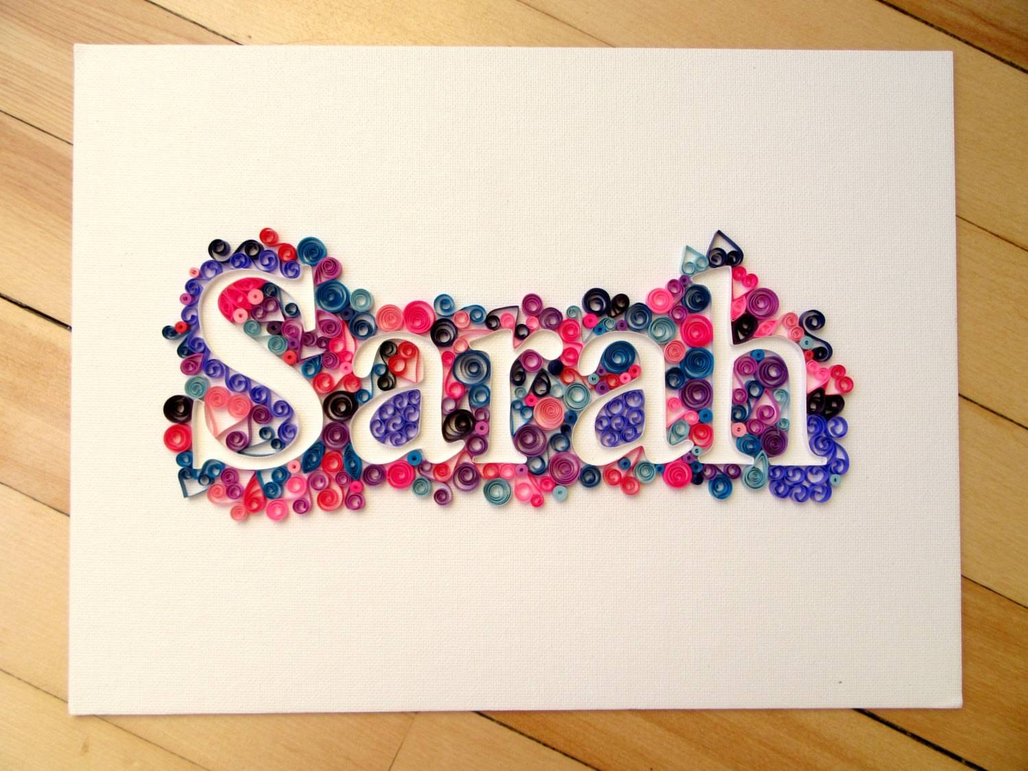 Articles With Personalized Name Wall Art Letters Tag: Name Wall Pertaining To Most Current Personalized Baby Wall Art (View 1 of 20)