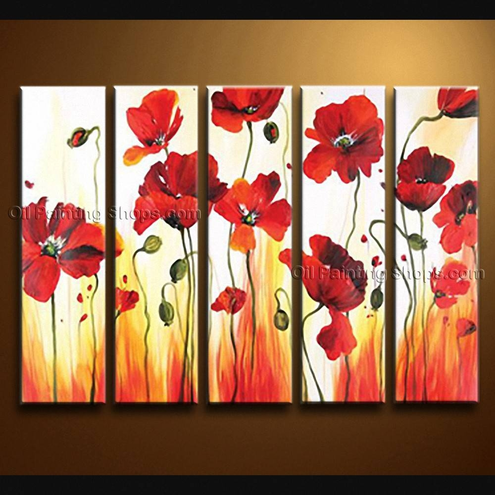 Articles With Poppy Flower Metal Wall Art Tag: Poppy Wall Art Regarding Newest Red Flower Metal Wall Art (View 4 of 25)