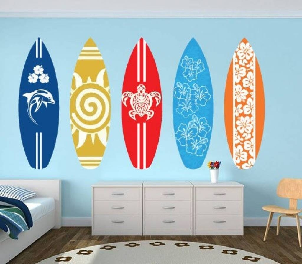 Articles With Surfboard Wall Decoration Uk Tag: Surfboard Wall Intended For Most Recent Decorative Surfboard Wall Art (View 5 of 25)
