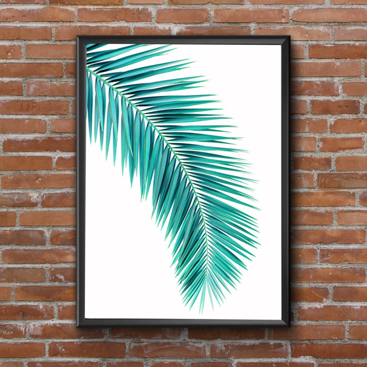 Image Gallery Of Palm Leaf Wall Art View 16 Of 20 Photos