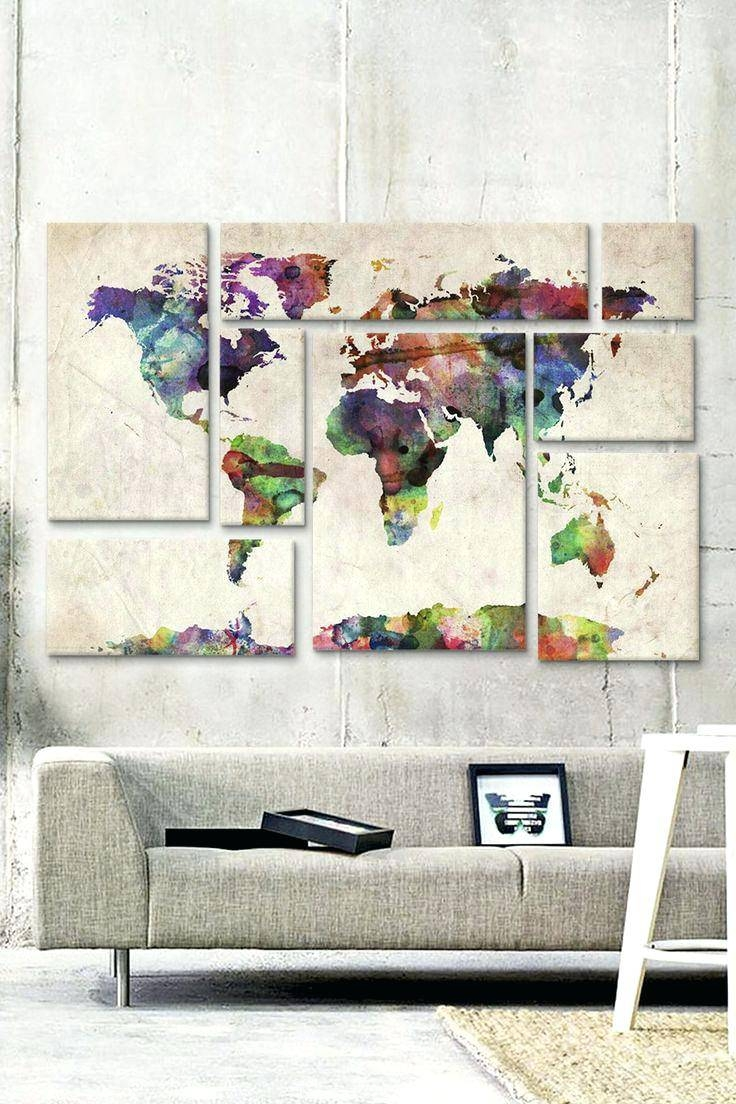 Articles With World Map Wall Art Ikea Label: Astonishing World Map Within Best And Newest Groupon Wall Art (View 3 of 20)