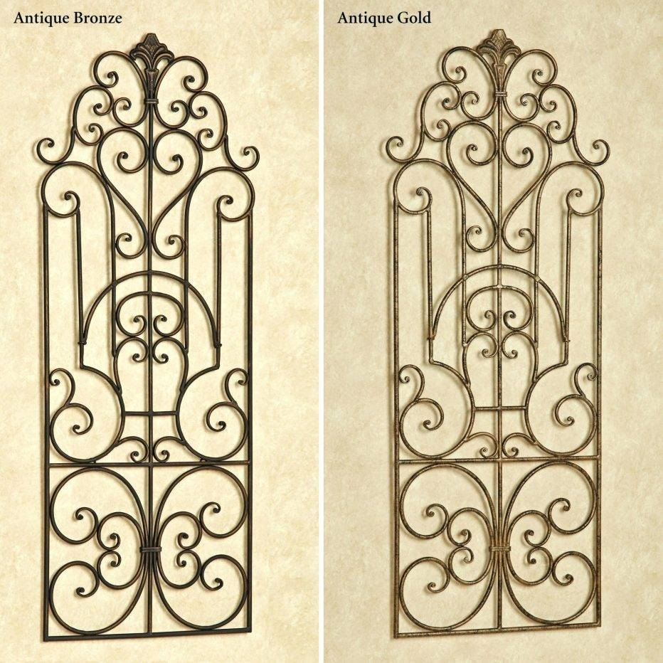 Articles With Wrought Iron Wall Decor Scroll Tag Trendy Within Most Up To