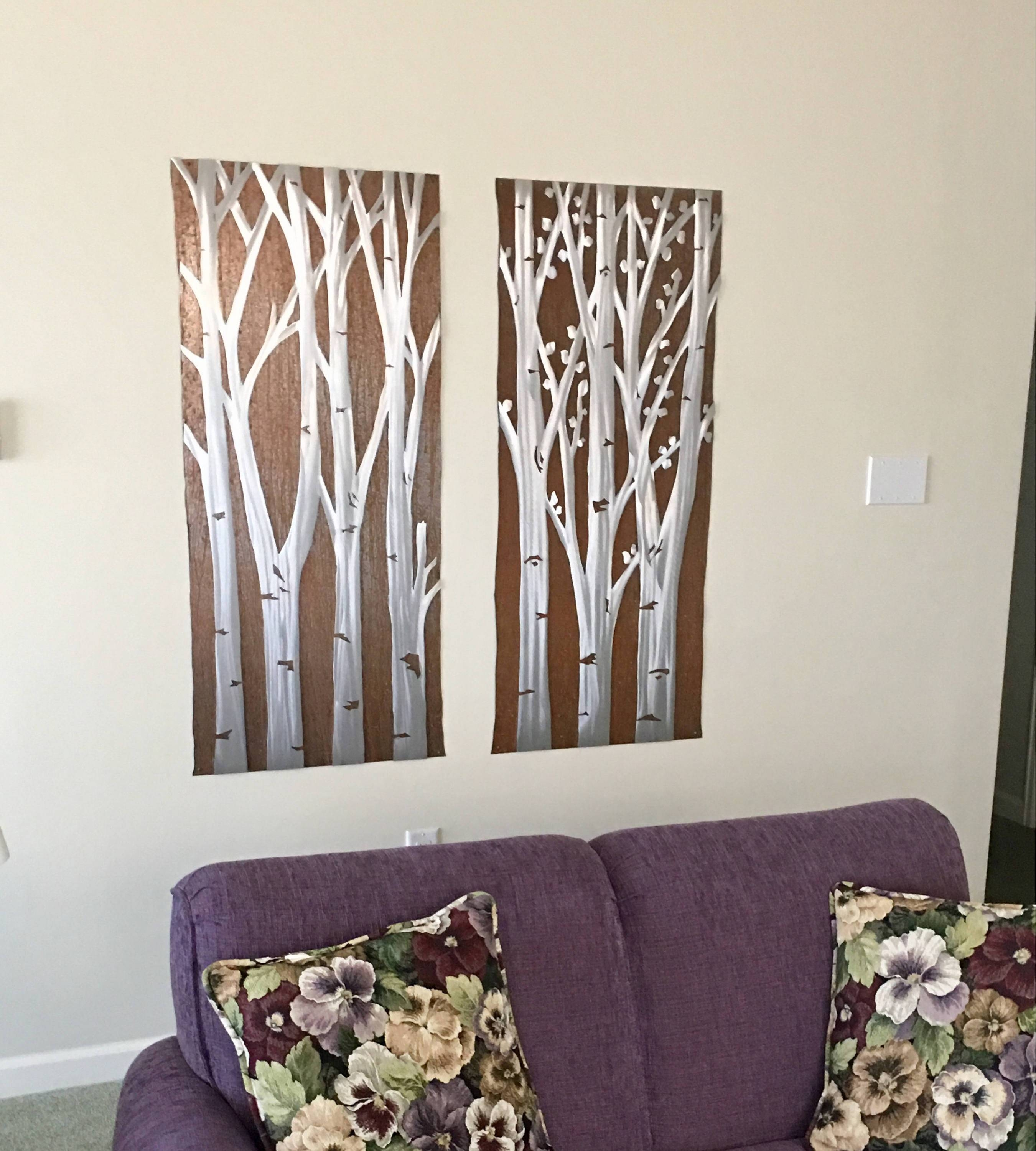 Aspen Trees. Large Metal Wall Art (View 5 of 20)