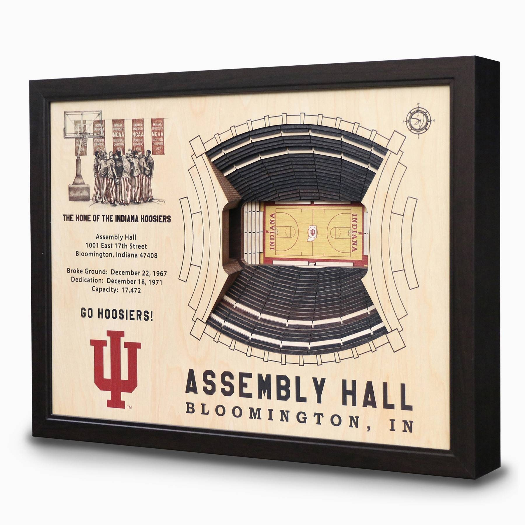 Assembly Hall 3D Wall Art – Indiana University Hoosiers | Chicago Within Most Current Baseball 3D Wall Art (View 4 of 20)