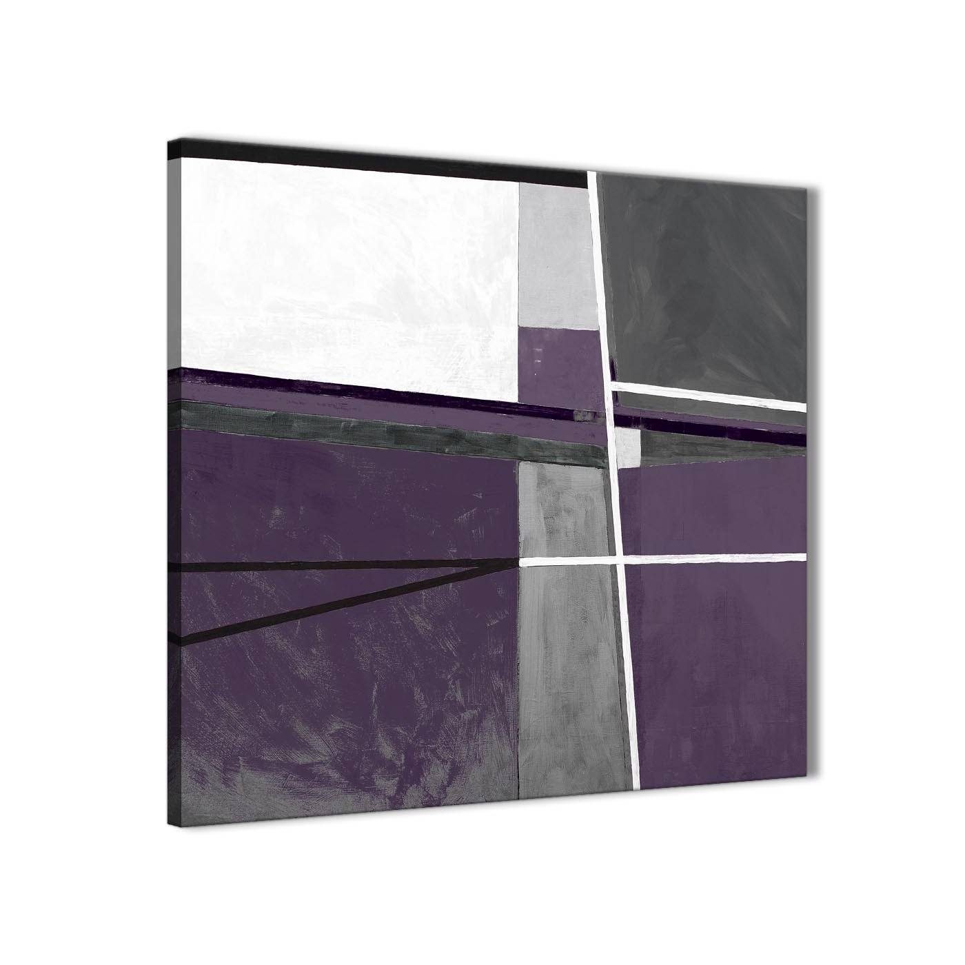 Aubergine Grey Painting Bathroom Canvas Pictures Accessories Regarding Best And Newest Aubergine Wall Art (View 5 of 20)