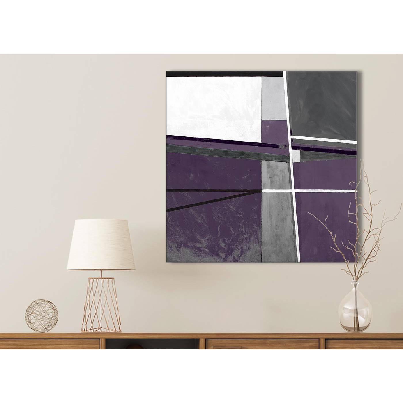 Aubergine Grey Painting Bathroom Canvas Pictures Accessories With Regard To Recent Aubergine Wall Art (View 8 of 20)