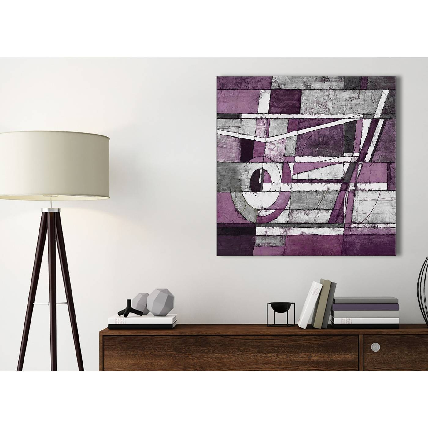 Aubergine Grey White Painting Bathroom Canvas Pictures Accessories For Current Aubergine Wall Art (View 8 of 20)