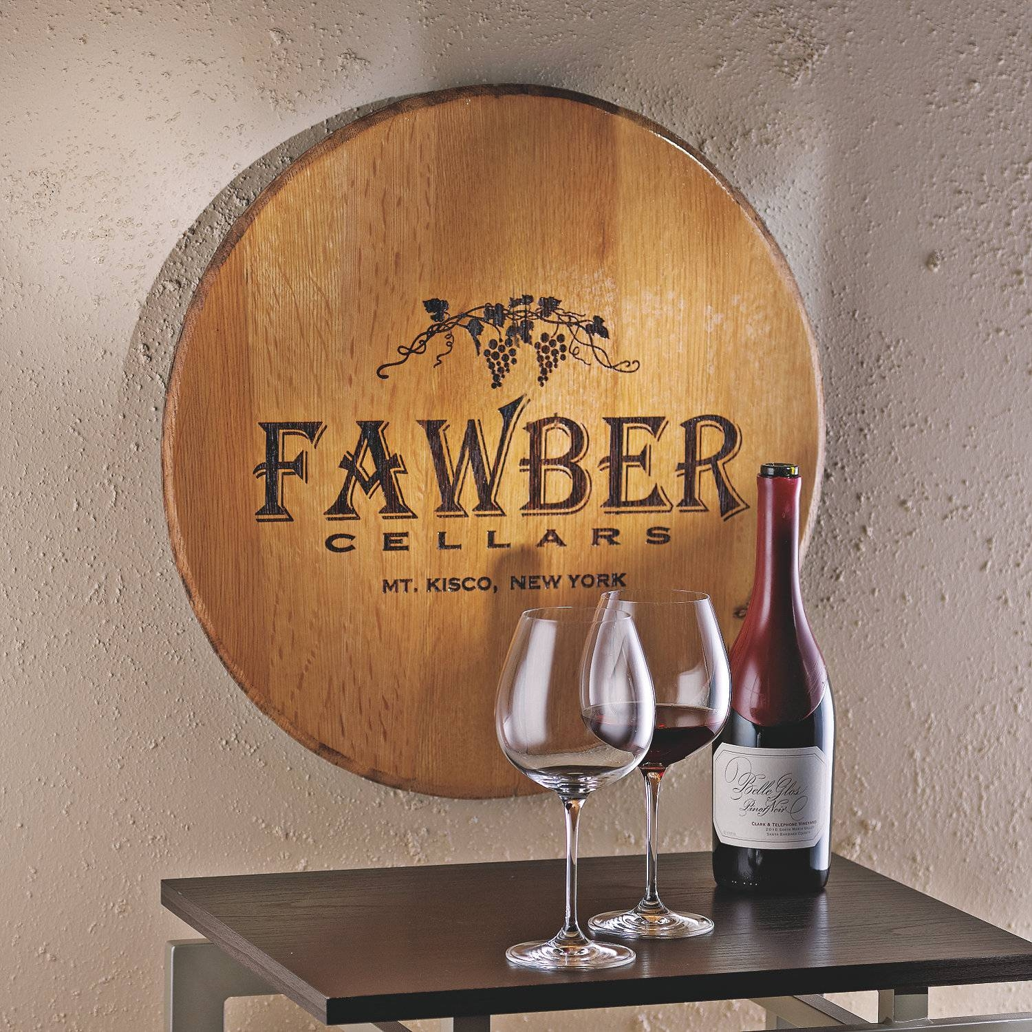 Authentic Barrel Head Wall Plaque With Personalized Wine Theme For Most Popular Wine Theme Wall Art (View 2 of 20)