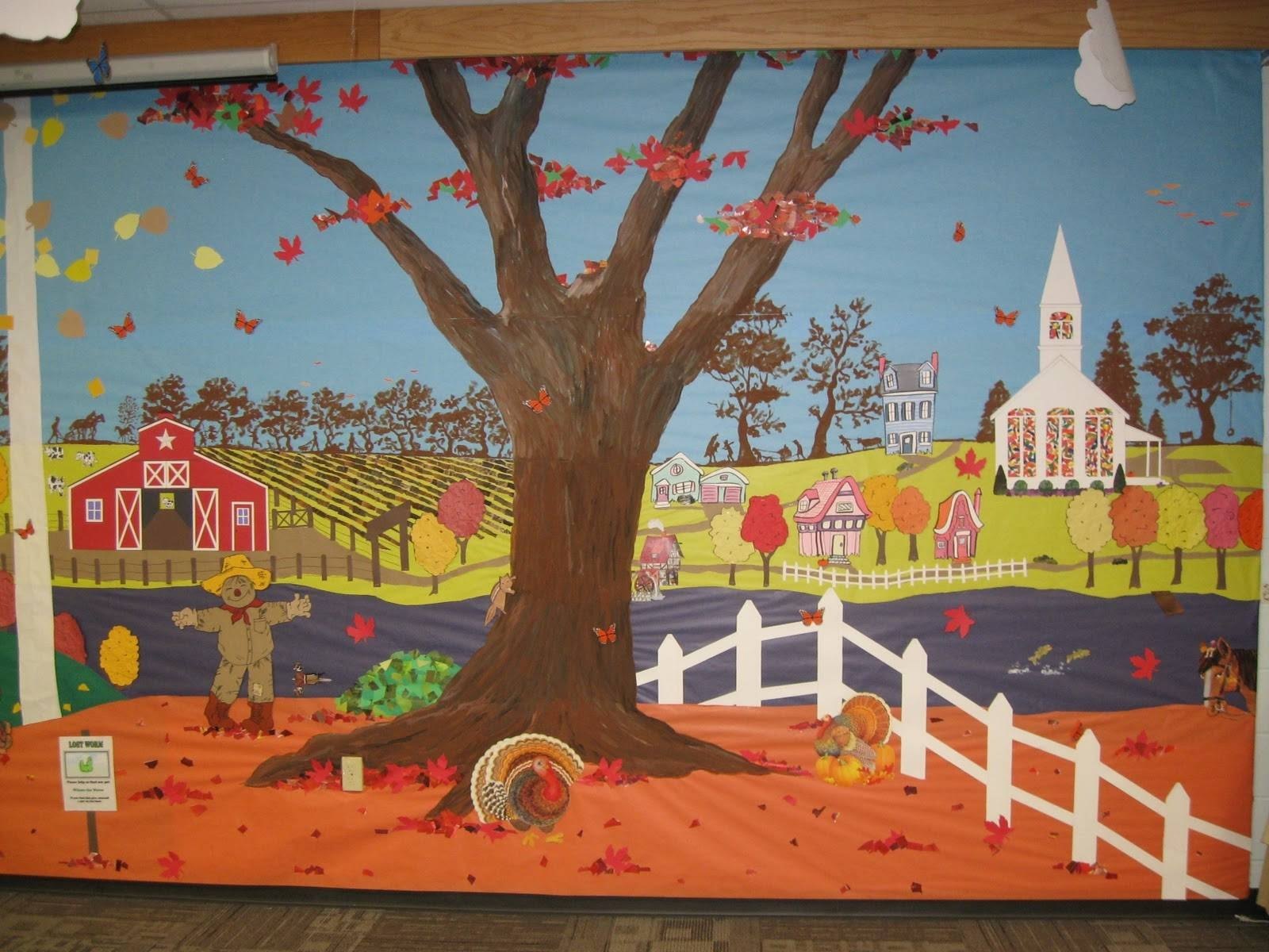 Autumn Classroom Bulletin Board Ideas With Regard To Latest Preschool Wall Art (Gallery 23 of 30)