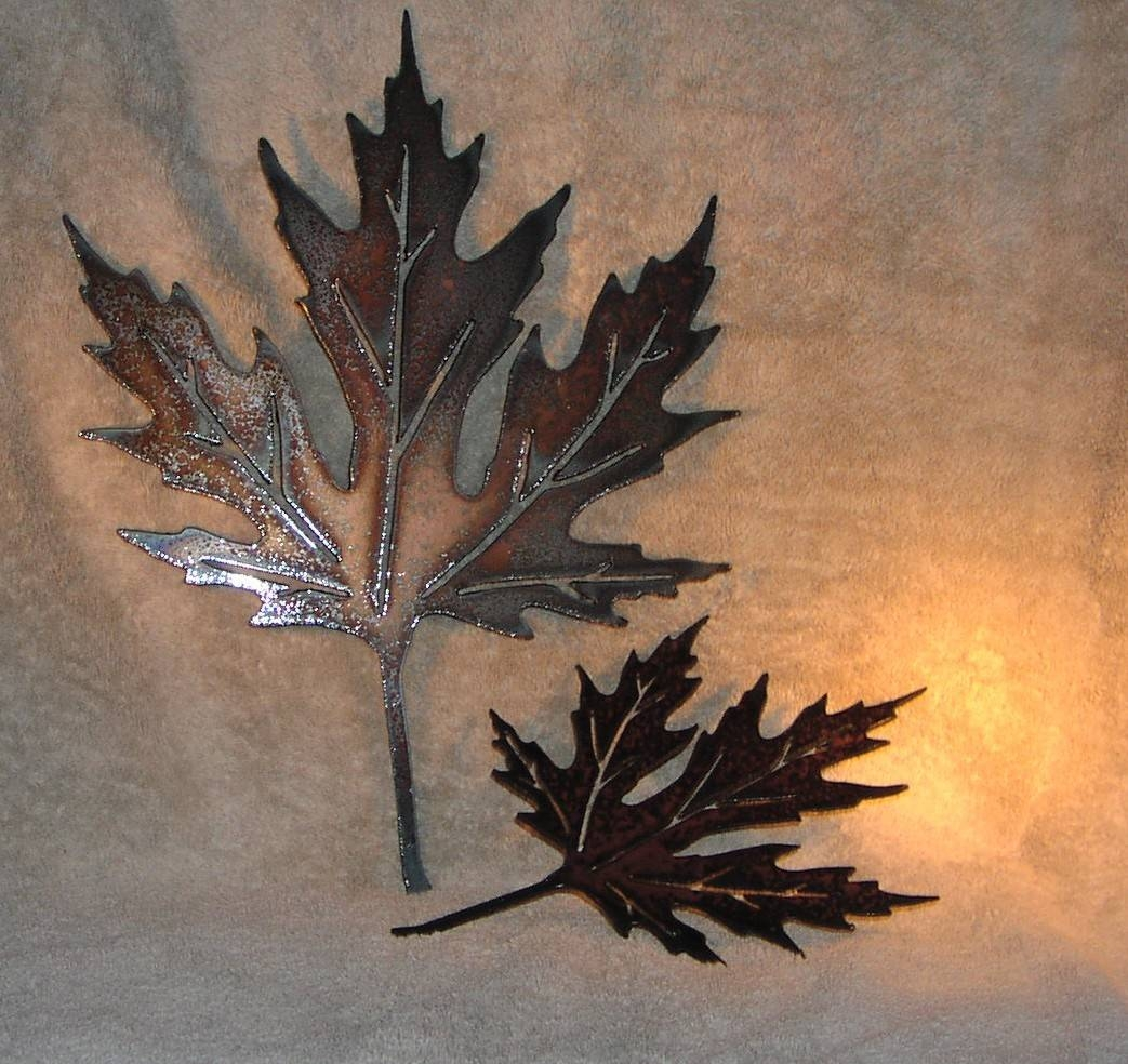 Autumn Leaves Metal Wall Decor Suitable For Indoors Or With Regard To Latest Kohl's Metal Wall Art (View 5 of 30)