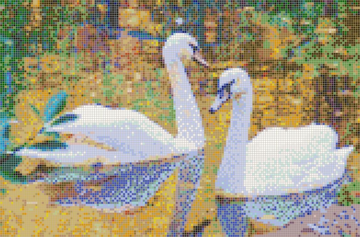 Autumn Swans – Framed Mosaic Wall Art Regarding 2018 Mosaic Wall Art Kits (View 8 of 20)